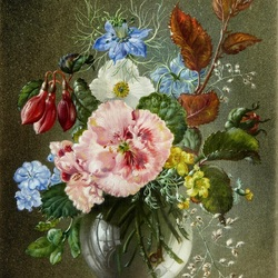 Пазл онлайн: Букет цветов