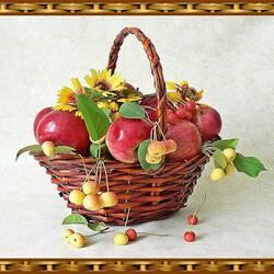 Пазл онлайн: Корзинка яблок