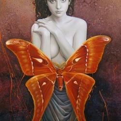 Пазл онлайн: В образе бабочки