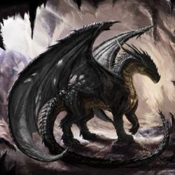 Пазл онлайн: Чёрный дракон