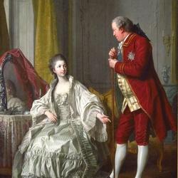 Пазл онлайн: Маркиз де Мариньи с женой