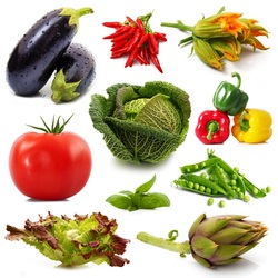 Пазл онлайн: Овощи
