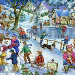 Пазл онлайн: Любимая зима