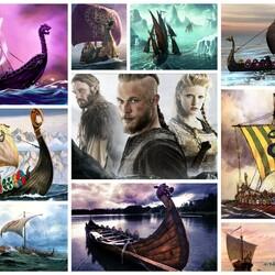 Пазл онлайн: Корабли викингов