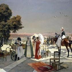 Пазл онлайн: Наполеон I и король римский в Сен-Клу в 1811 г.