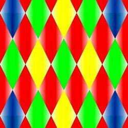 Пазл онлайн: Разноцветные ромбы
