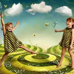 Пазл онлайн: Пчёлки