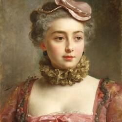 Пазл онлайн: Портрет юной леди