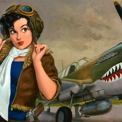 Пазл онлайн: Женщина пилот