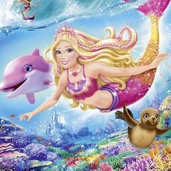 Пазл онлайн: Барби русалка
