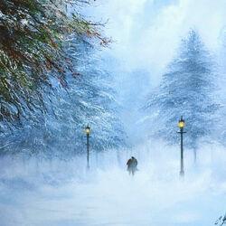 Пазл онлайн: Снежная прогулка