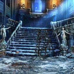 Пазл онлайн: Разрушенная лестница
