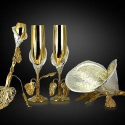 Пазл онлайн: Серебряный набор для вина