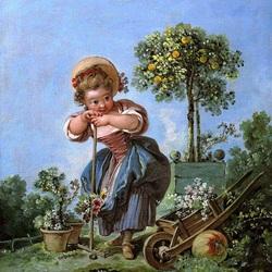 Пазл онлайн: Маленькая садовница