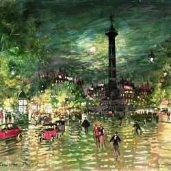 Пазл онлайн: Площадь Бастилии. Париж