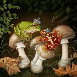 Пазл онлайн: Королевские жабки
