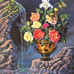 Пазл онлайн: Тающие розы