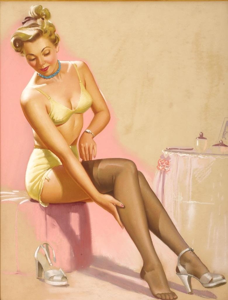 Смотреть женщины в чулках ретро фото рисунки