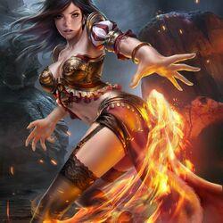 Пазл онлайн: Огонь