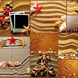 Пазл онлайн: Рисунки на песке