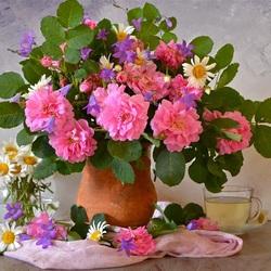 Пазл онлайн: Цветы моего сада