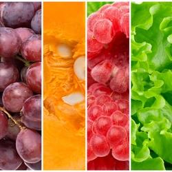 Пазл онлайн: Фруктово-овощная радуга