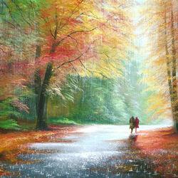 Пазл онлайн: Осенью