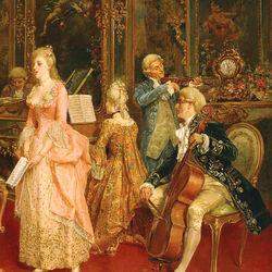 Пазл онлайн: Концерт во время Моцарта