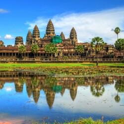 Пазл онлайн: Ангкор-Ват