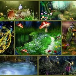 Пазл онлайн: Волшебный лес