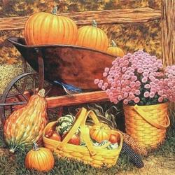 Пазл онлайн: Красивый урожай