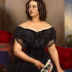 Пазл онлайн: Портрет баронессы Гюльденстрём