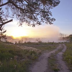 Пазл онлайн: Рассветная дорога