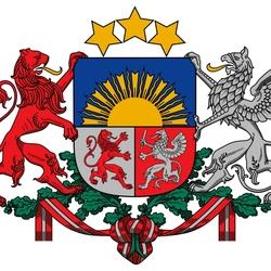 Пазл онлайн: Герб Латвии