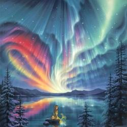 Пазл онлайн: Северная магия