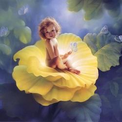 Пазл онлайн: Цветочный малыш