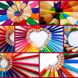 Пазл онлайн: Цветные карандаши