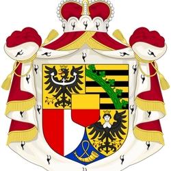 Пазл онлайн: Герб княжества Лихтенштейн