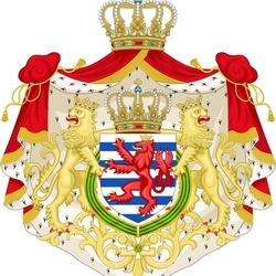 Пазл онлайн: Герб Люксембурга
