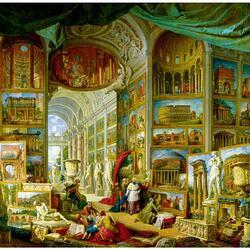 Пазл онлайн: Галерея с видами древнего Рима