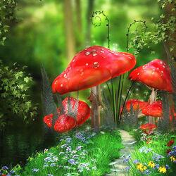 Пазл онлайн: Чудные грибы