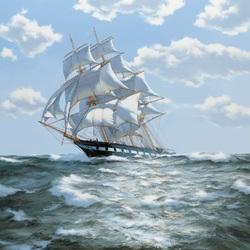 Пазл онлайн: Штормовой ветер