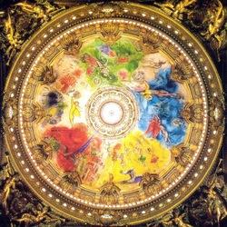 Пазл онлайн: Роспись потолочного плафона в Гранд-Опера