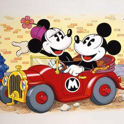 Пазл онлайн: Микки Маус