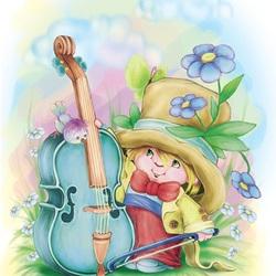 Пазл онлайн: Маленький музыкант