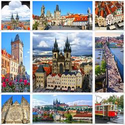 Пазл онлайн: Достопримечательности Праги