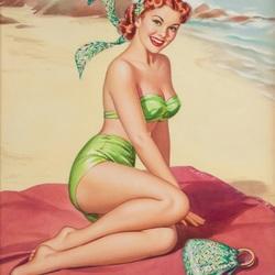 Пазл онлайн: Красотка на пляже