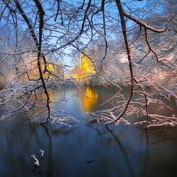 Пазл онлайн: Зима в Бруклине