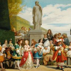 Пазл онлайн: Мольер в Версале