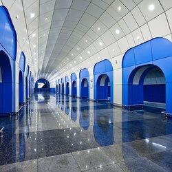 Пазл онлайн: Станция метро Байконур